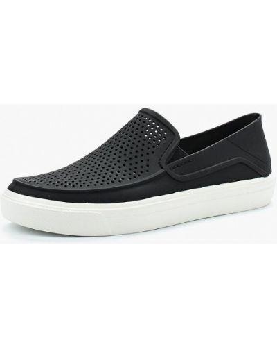 Черные слипоны Crocs