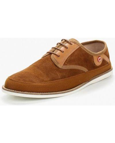 Коричневые туфли замшевые Nobrand
