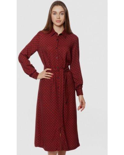 Красное платье-рубашка Arber