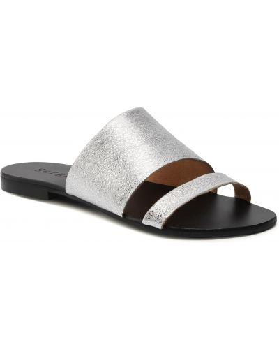 Sandały srebrne Sergio Bardi