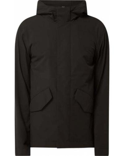 Czarna kurtka z kapturem Elvine