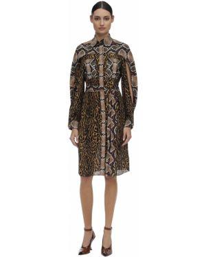 Платье рубашка - золотое Burberry