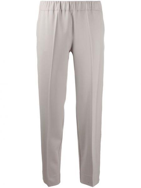 Серые зауженные брюки с поясом D.exterior