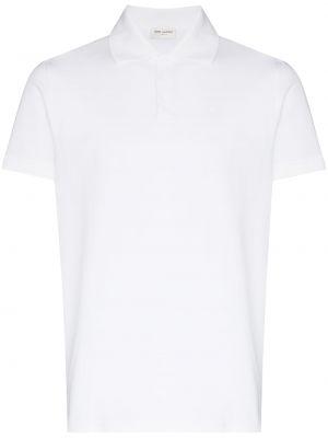 Biała koszula z haftem - biała Saint Laurent