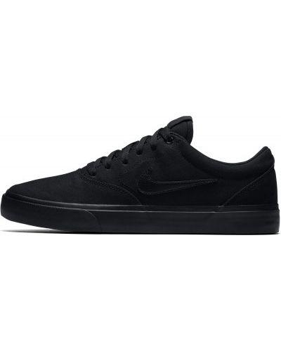 Текстильные черные кеды Nike