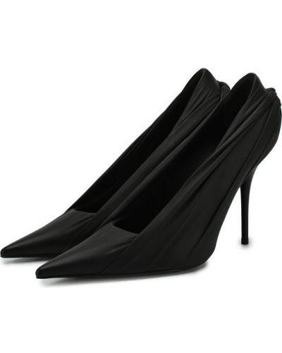 Туфли на высоком каблуке кожаные на каблуке Balenciaga