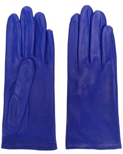 Кожаные перчатки винтажный синий Christian Dior Pre-owned