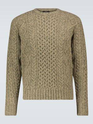 С рукавами шерстяной оливковый свитер Rrl