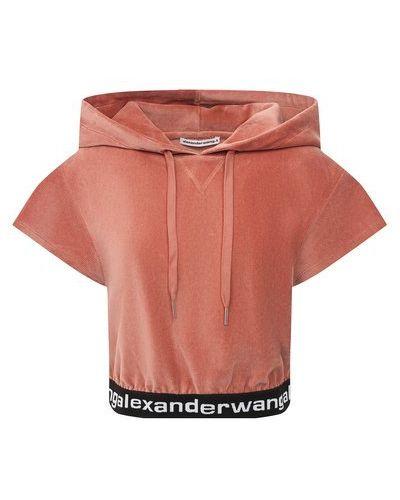 Черная хлопковая кофта Alexanderwang.t