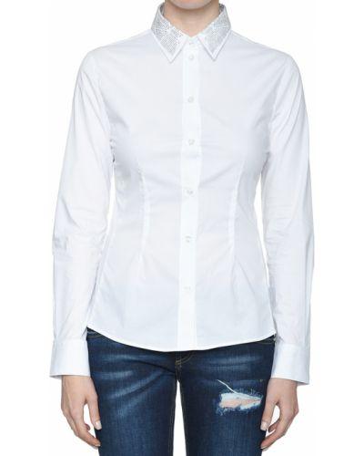 Хлопковая рубашка - белая Frankie Morello