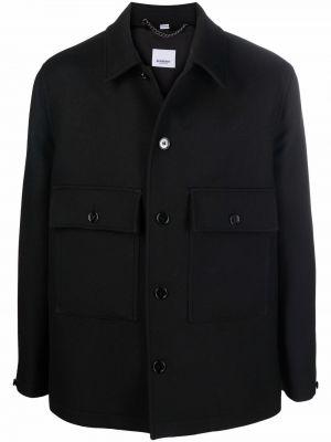 Koszula wełniana - czarna Burberry