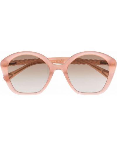 Różowe okulary oversize Chloé Kids