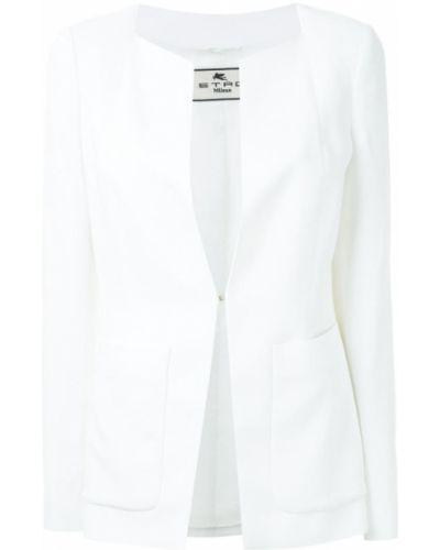 Белый пиджак без застежек Etro