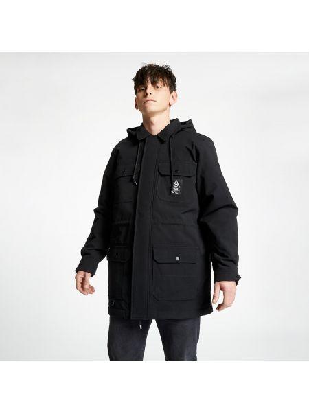 Черная длинная куртка Vans
