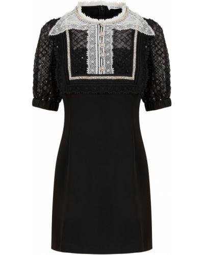 Кружевное платье - черное Self-portrait