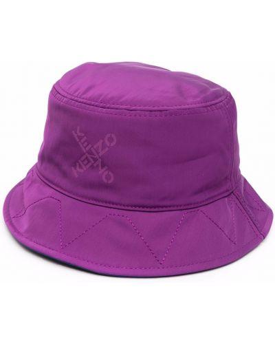 Fioletowa bucket hat z nylonu z printem Kenzo