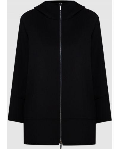 Черное шерстяное пальто Max Mara