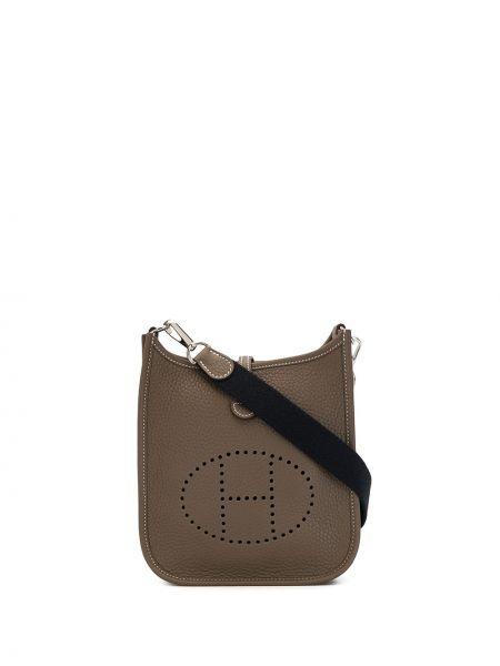 Skórzana torebka crossbody z logo Hermes