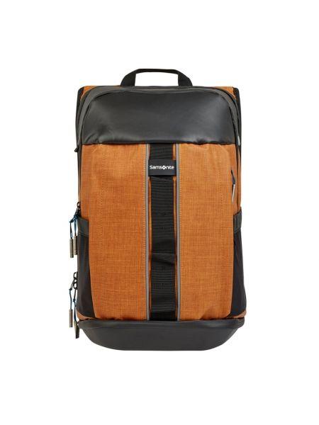 Pomarańczowy plecak na laptopa Samsonite