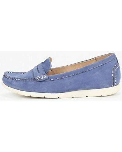 Мокасины кожаные синий Caprice