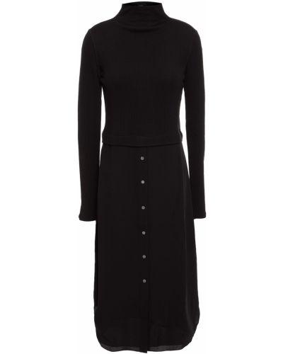 Черное шерстяное платье Theory