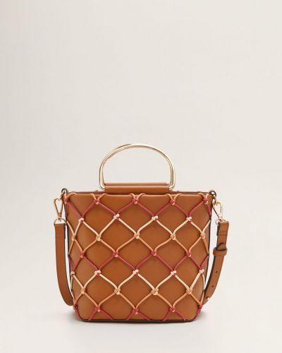 Сумка через плечо сумка-мешок кожаный Mango