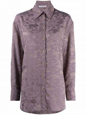 Fioletowa koszula z długimi rękawami Acne Studios