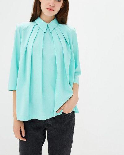 Блузка с длинным рукавом бирюзовая Glam Goddess