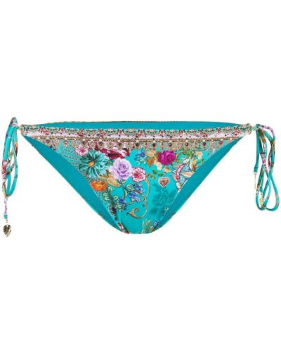 Синие бикини с завязками с бисером Camilla