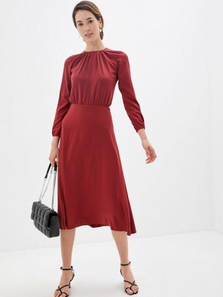 Красное прямое платье Laroom