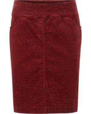 Юбка мини вельветовая красный Bonprix