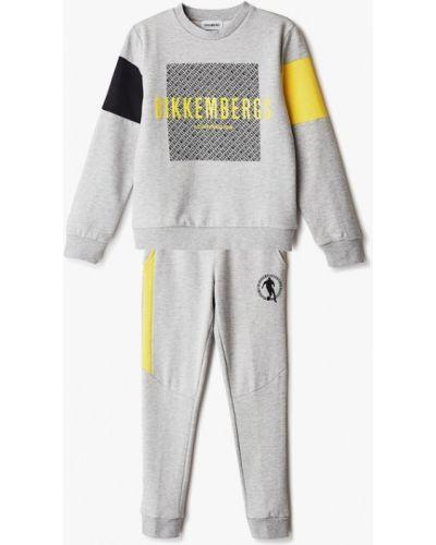Костюмный серый спортивный костюм Bikkembergs