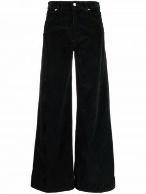 Классические брюки с завышенной талией - черные Pt01