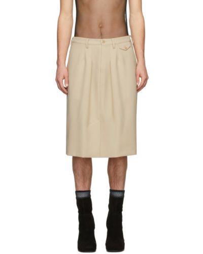 Czarny spódniczki-szorty z kieszeniami z paskami Random Identities
