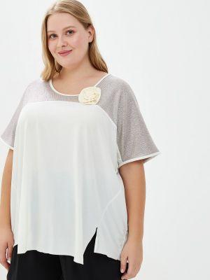 Блузка с коротким рукавом белая весенний Артесса