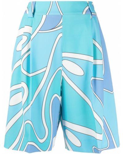 Свободные синие шорты свободного кроя Sara Battaglia