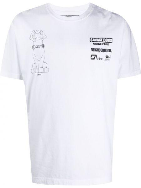 Koszula krótkie z krótkim rękawem prosto z nadrukiem Neighborhood