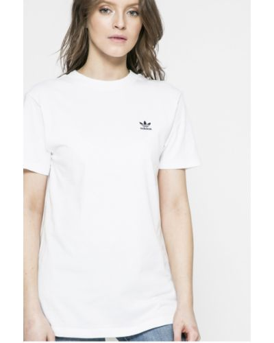 Спортивная футболка прямая однотонная Adidas Originals