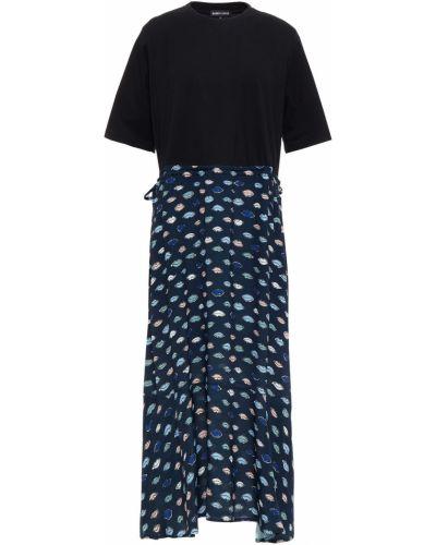 Трикотажное черное платье миди с карманами Markus Lupfer