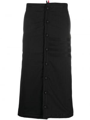 Черная с завышенной талией юбка миди на пуговицах Thom Browne
