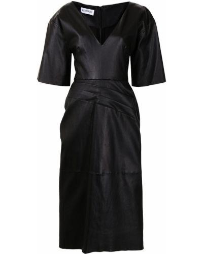 Czarna sukienka krótki rękaw Maticevski