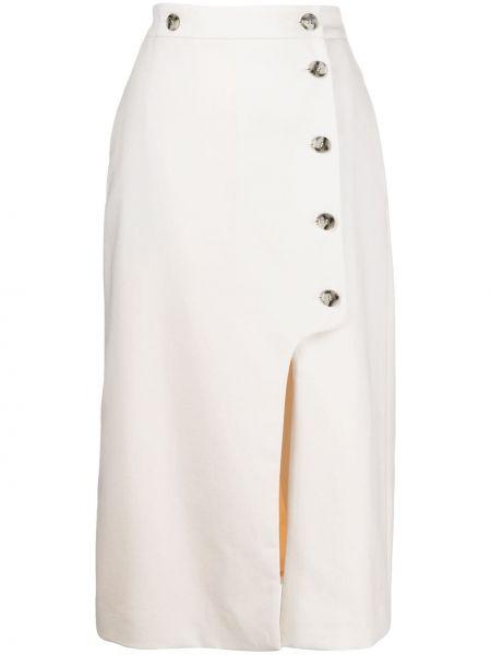 Шерстяная с завышенной талией юбка миди Paul Smith