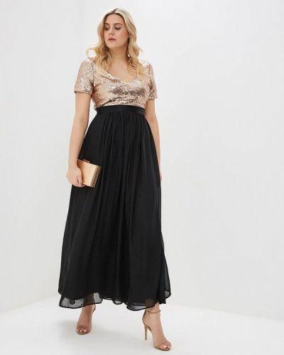 Коктейльное платье черное Goddiva Size Plus