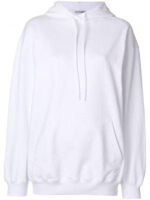 Bluza z kapturem z kapturem biały Balenciaga