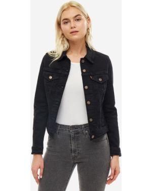 Джинсовая куртка черная с карманами Levi's®