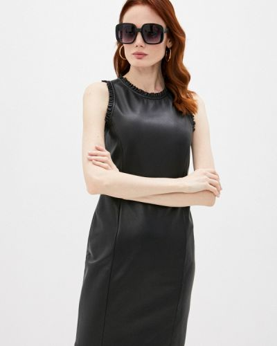 Кожаное платье - черное Emporio Armani