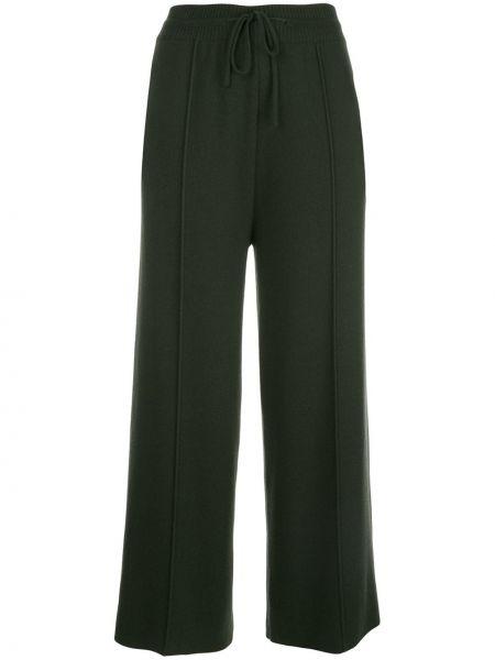 Шерстяные свободные брюки с карманами свободного кроя с высокой посадкой Oscar De La Renta