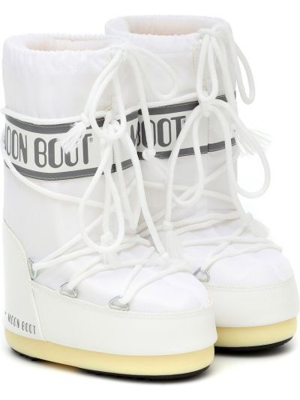 Białe kozaki z nylonu Moon Boot Kids