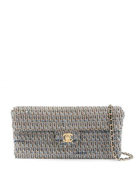 Кожаная сумка на цепочке джинсовая Chanel Pre-owned