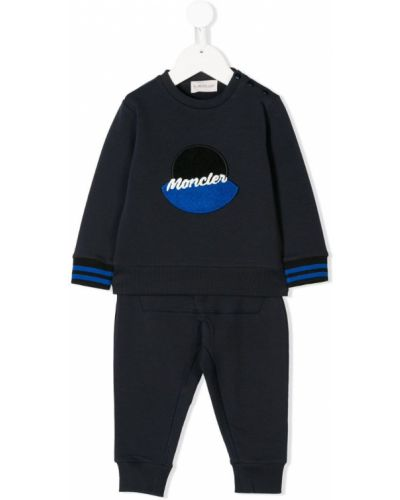 Спортивный костюм синий в рубчик Moncler Kids